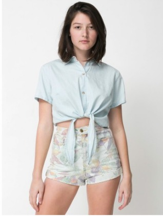 American Eagle printed high waisted shorts