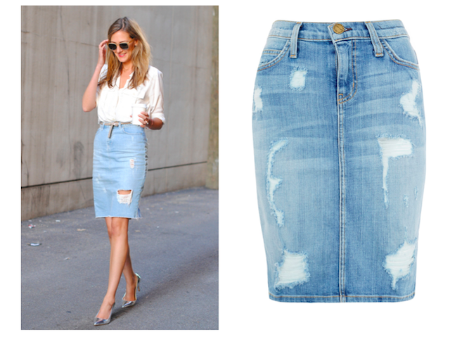 Faded Denim Skirt - Redskirtz