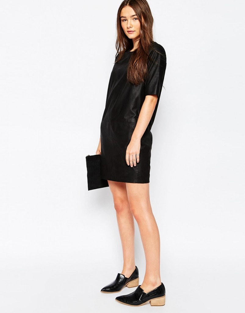 6. Asos Muubaa Montesson Leather Dress