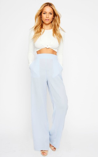 flared trouser blue