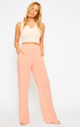 flared trouser peach