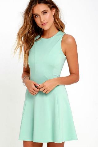 mint - pink dress