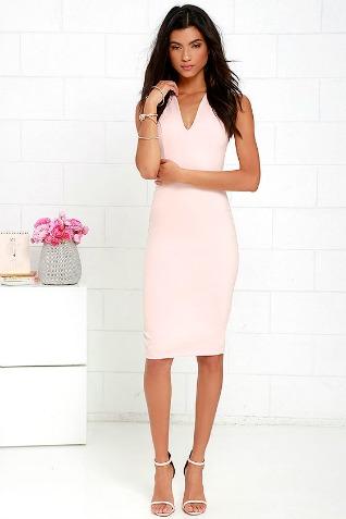 pink v dress