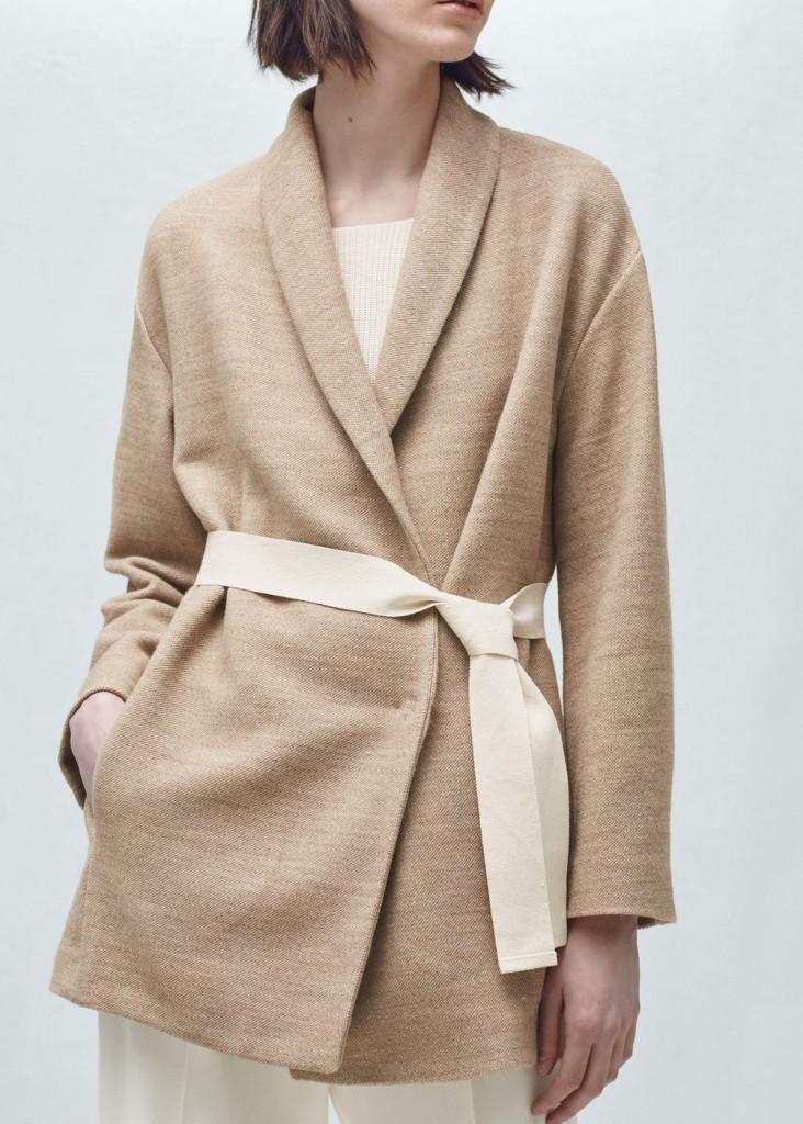 Mango belted wrap jacket