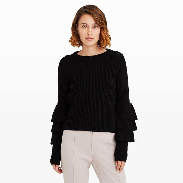 6. black sweater
