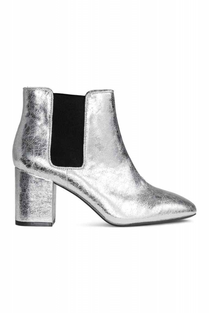 10. Metallic booties