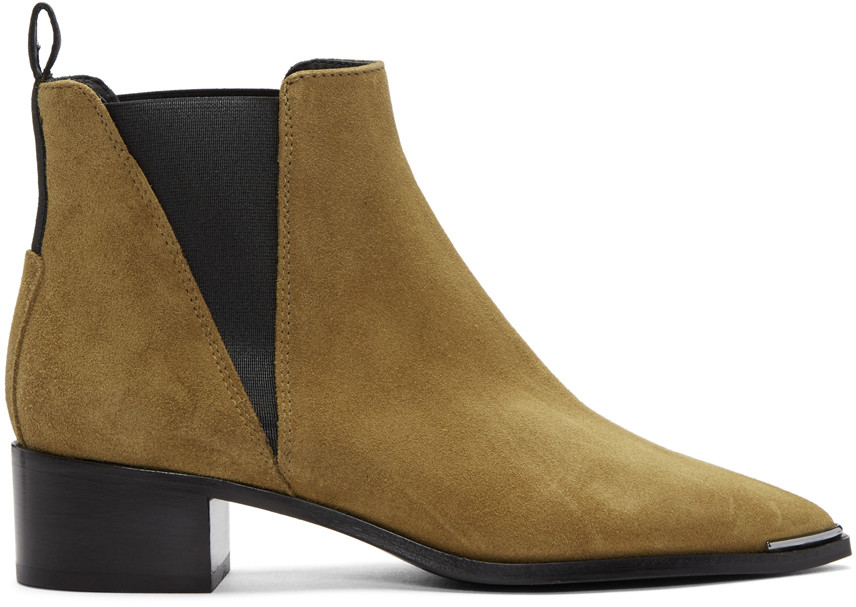 3. Tan Suede Boots