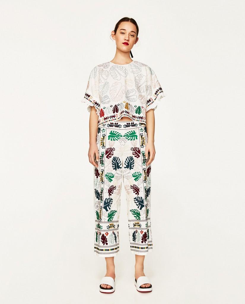 3. Floral culottes