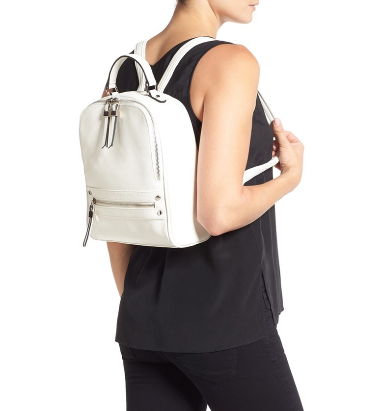 3. The hip leather backpack