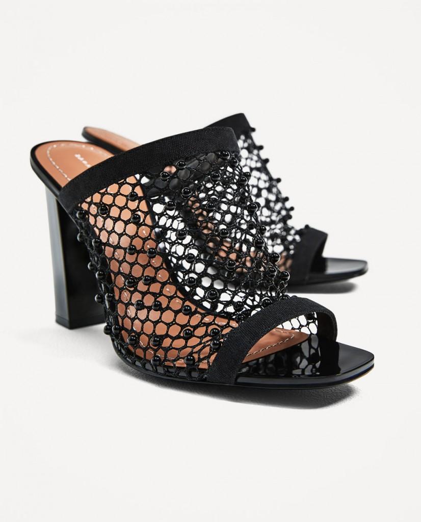 3. Zara High Heel Mesh Sandal