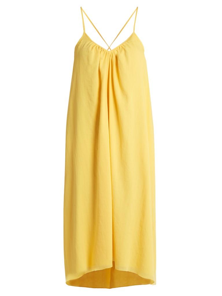 7.Yellow Slip Dress