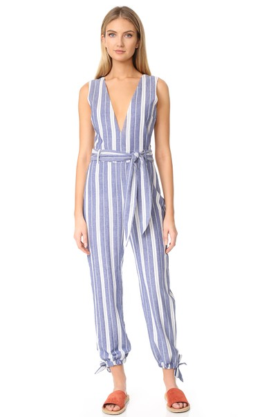 9. Striped Jump suit