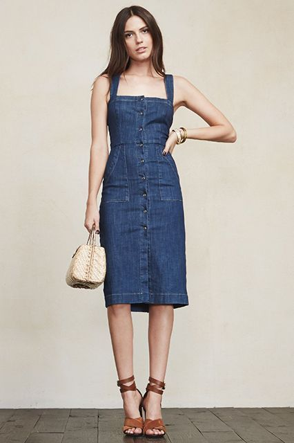 5. Denim Dress Evening