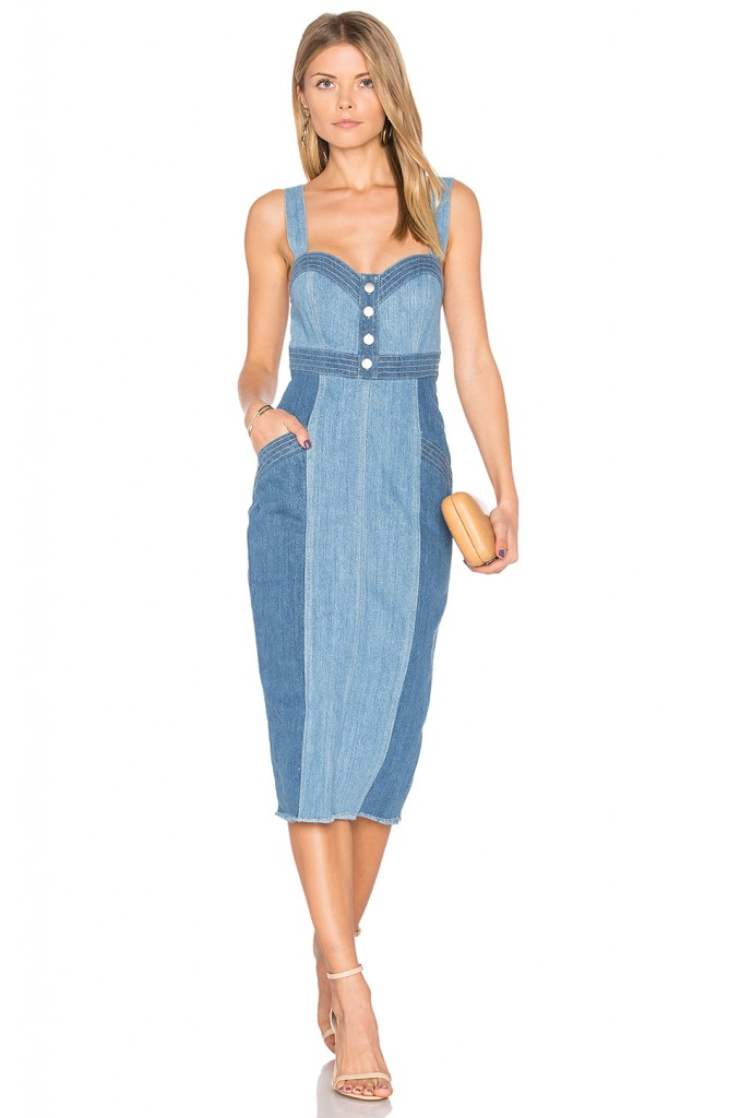 6. Denim Evening Dress