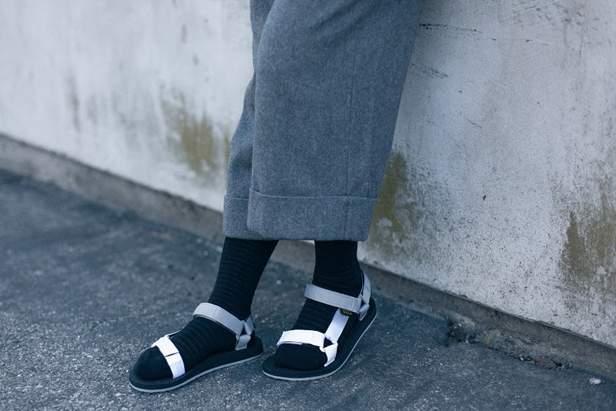 7. Teva socks with sandals