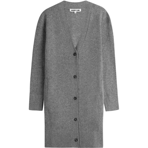 STYLENINETOFIVE_5 STAPLE PIECES WORK WARDROBE_MCQ Grey Wool Long Cardigan