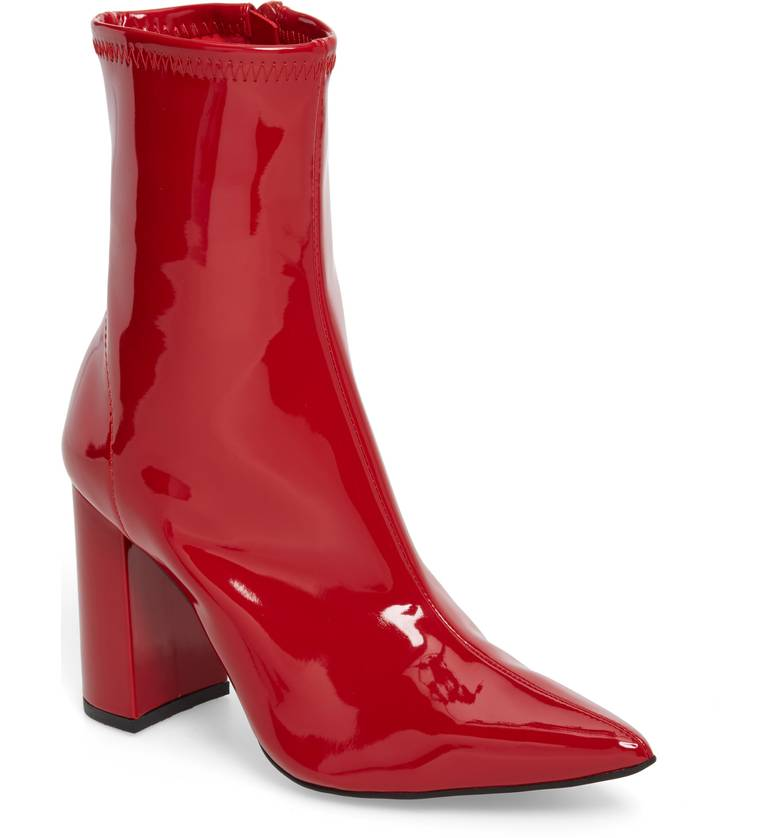 STNF_Red Boots_Jeffrey Campbell Siren Bootie