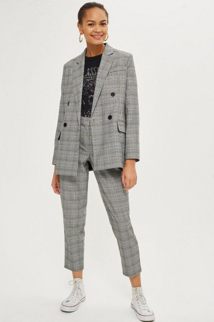 Style Nine To Five_Two Pieces You Can Wear To The Office_Checked Double Breasted Suit Topshop