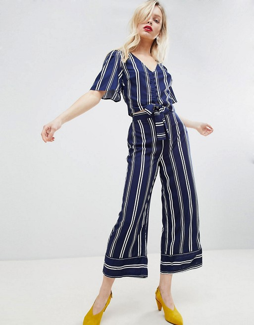 Style Nine To Five_Two Pieces You Can Wear To The Office_New Look Stripe Tie Front Top & Trousers (1)