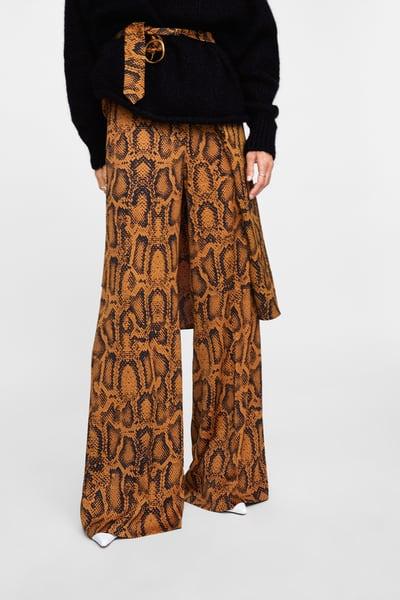STNF Pattern Trouser Picks_Zara Snake Print Pants