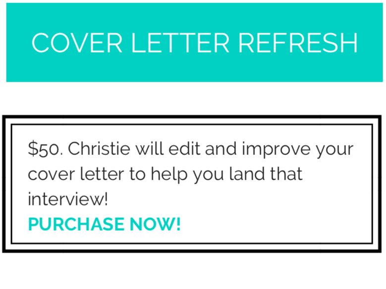 Cover Letter Refresh - Style Nine to Five