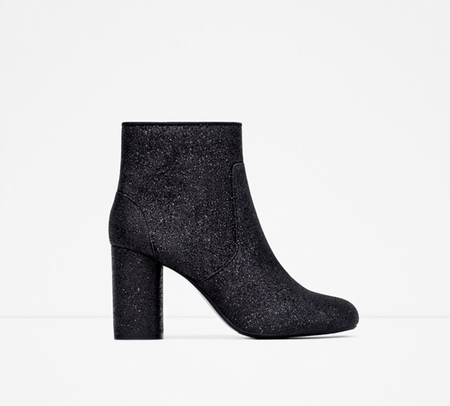 c6335131a ... Zara-High-Heel-Glitter-Booties ...