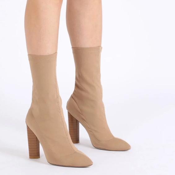 2c2b3a5878ee Nude Sock Booties