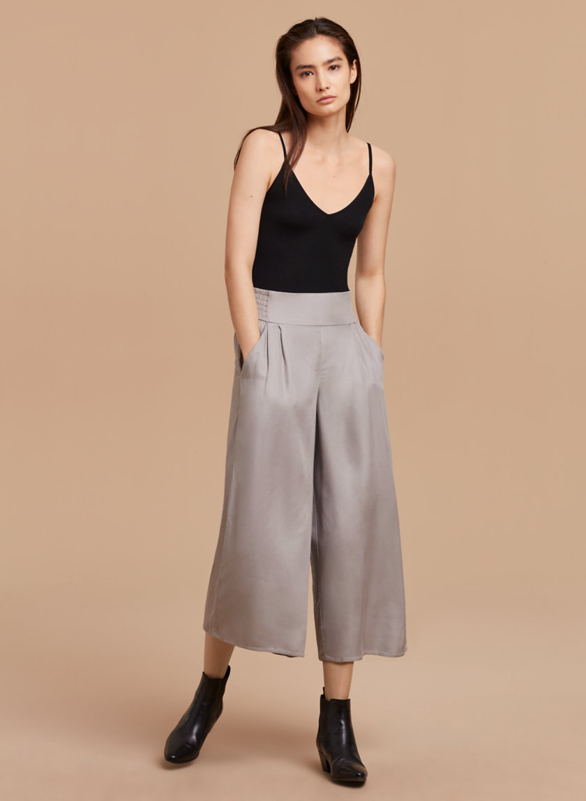 Aspiring New Hot Fashion Womens Palazzo Pants High Waist Wide Leg Culottes Casual Long Trousers Elegant Shape Bottoms Pants & Capris