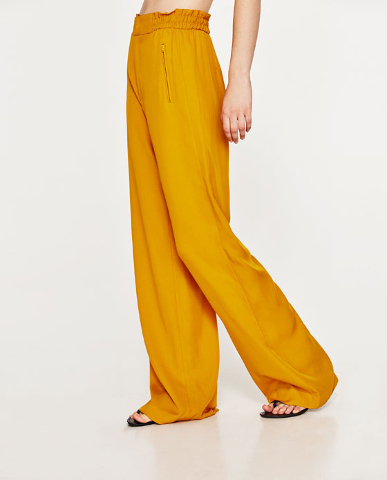 3. ZARA HIGH WAIST WIDE TROUSERS