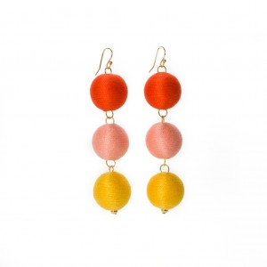 The loveliest pom bon earrings