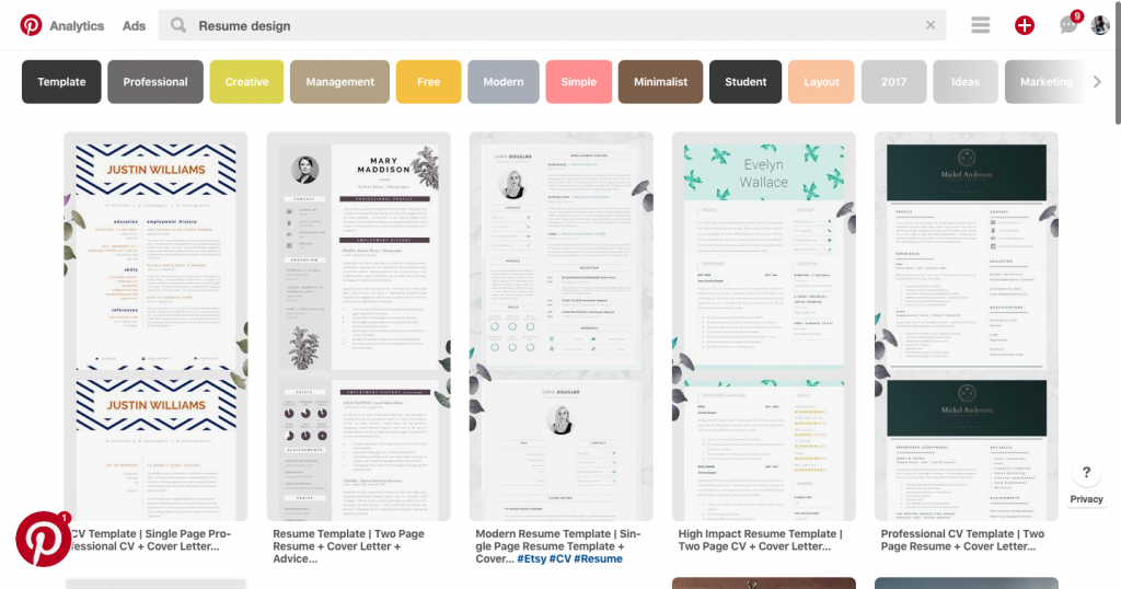 Style Nine To Five_Resume Spring Cleaning_Pinterest Design