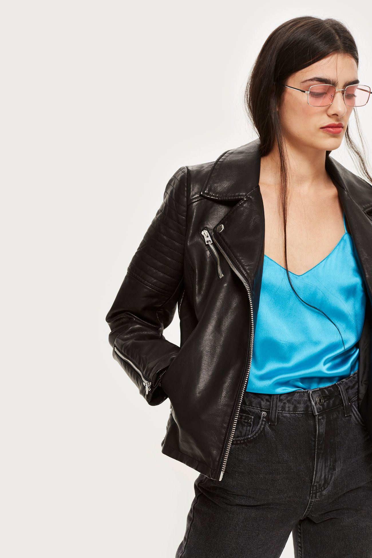 d224e72b0f5 A leather jacket is a wardrobe staple that every woman needs to invest in.  This jacket can add a cool edge to any outfit or it can be paired ...