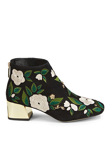 SNTF_Florals for Fall_Hudsons Bay Karl Lagerfeld Paris Harlow Booties