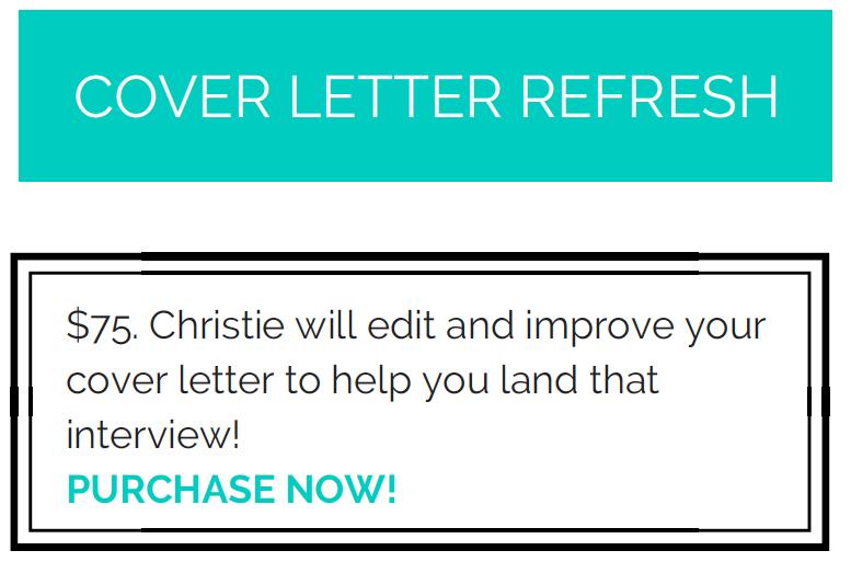 Cover Letter Refresh