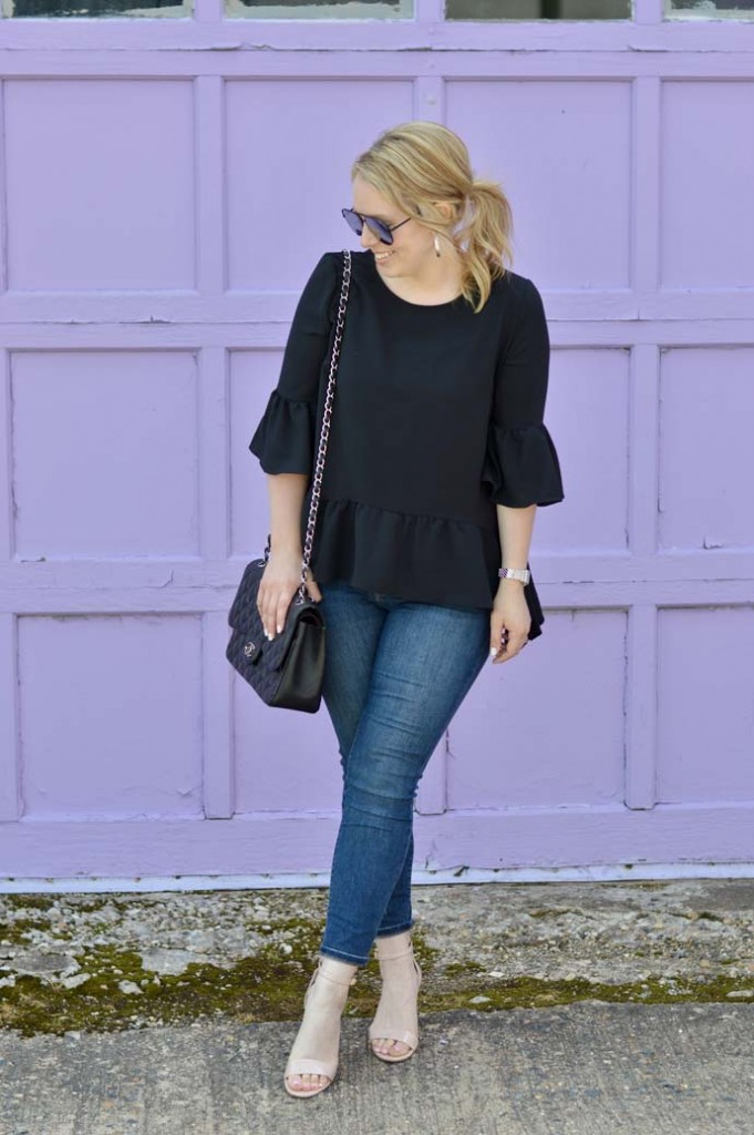 black-ruffle-peplum-top