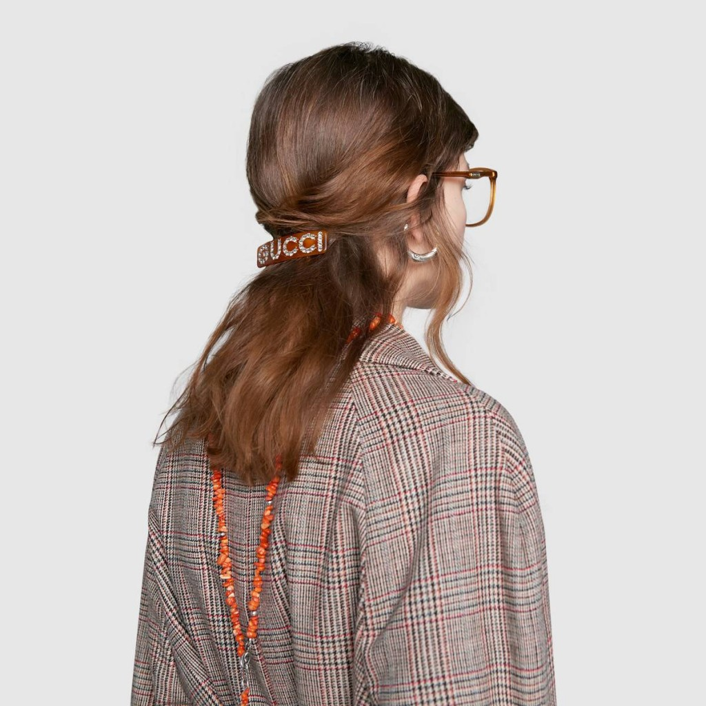 Crystal Gucci single hair barrette