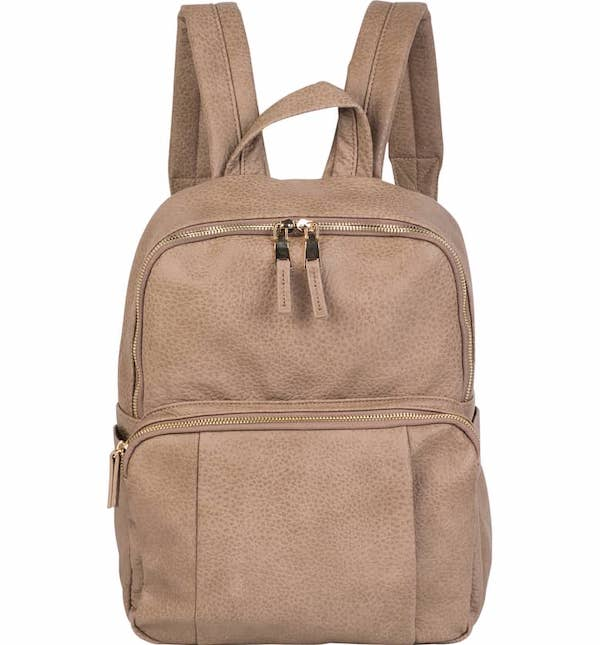 Bold Move Vegan Leather Laptop Backpack
