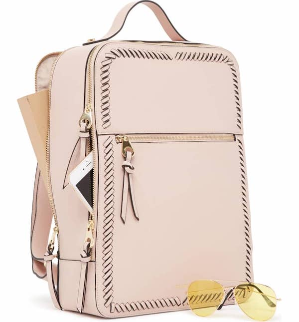 Kaya Faux Leather 15-Inch Laptop Backpack CALPAK