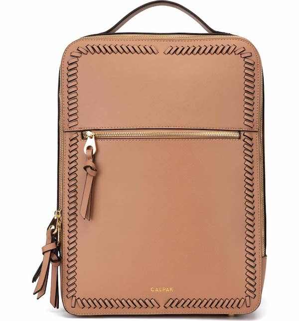 Kaya Faux Leather 15-Inch Laptop Backpack