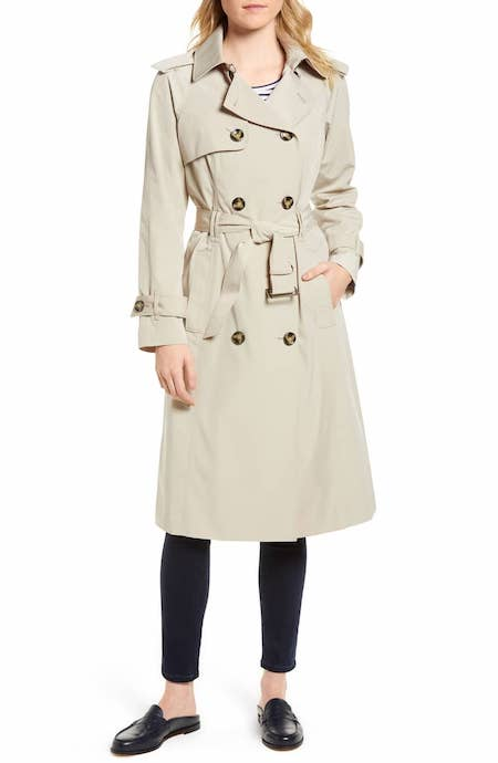 Long Double Breasted Trench Coat LONDON FOG