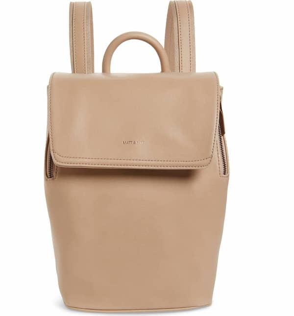Mini Fabi Faux Leather Backpack MATT & NAT