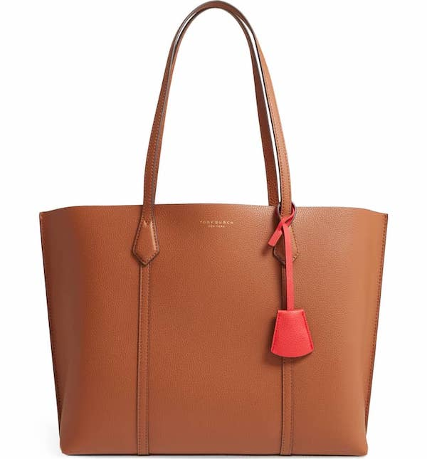 Perry Leather 13-Inch Laptop Tote TORY BURCH