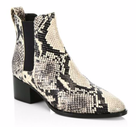 Rag & Bone Walker Snakeskin-Print Leather Chelsea Boots