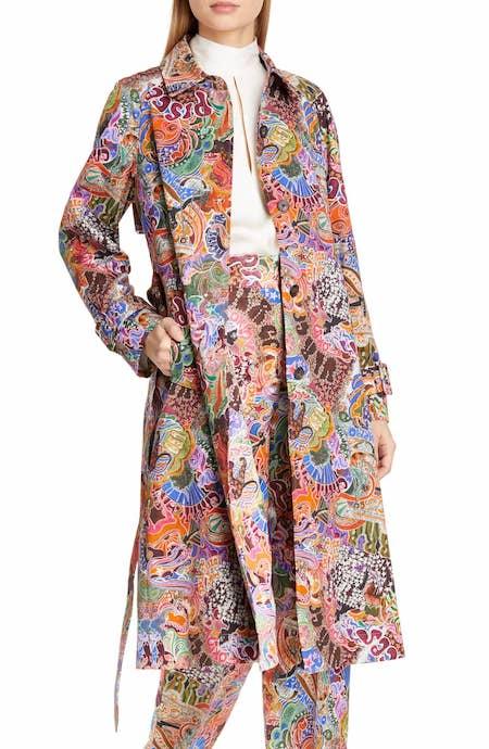 Zodiac Print Cotton Trench Coat TOMMY X ZENDAYA