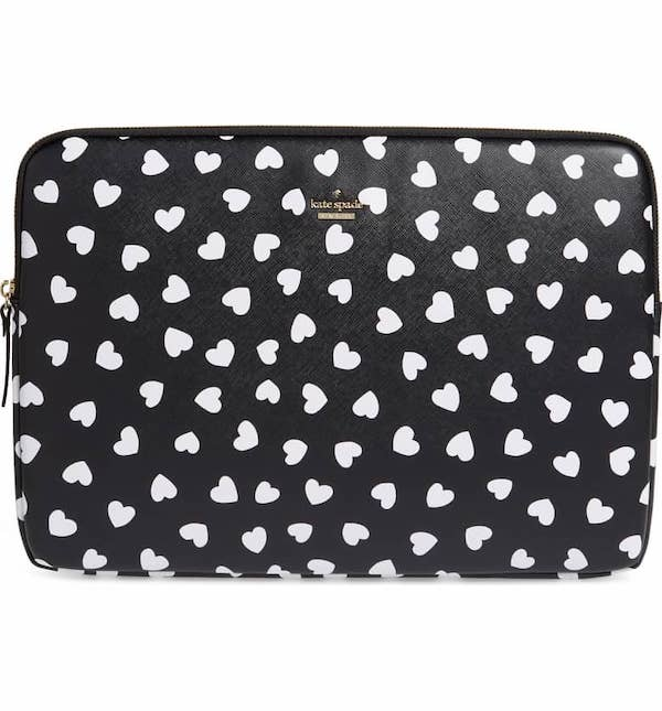 heartbeat faux leather universal laptop sleeve KATE SPADE NEW YORK