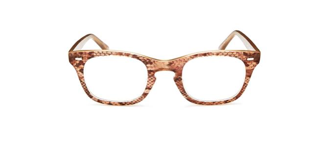 snakeskin frames glasses
