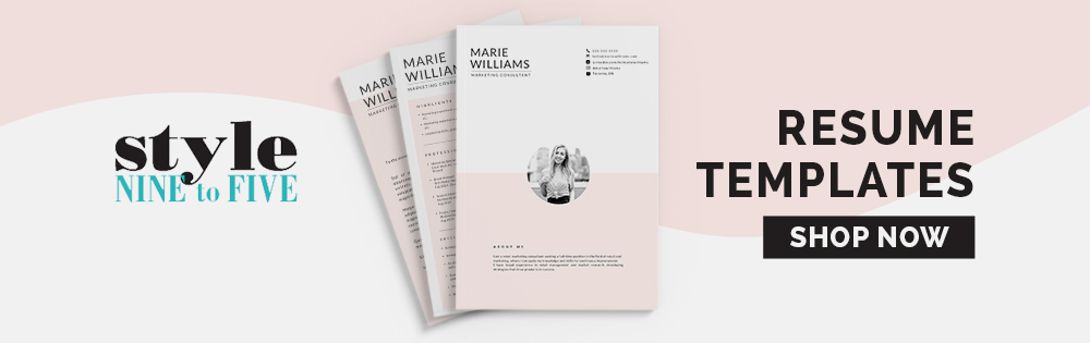 Resume Templates - Style Nine to Five